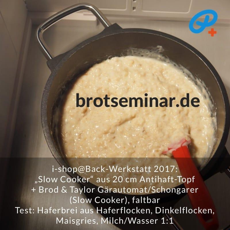 """brotseminar.de: """"Slow Cooker"""" selbst basteln mit deinem Lieblings-Topf + dem Brod & Taylor Gärautomat + Schongarer, faltbar. Auch Lieblings-Breichen ohne Anbrennen! So wie hier zu sehen."""