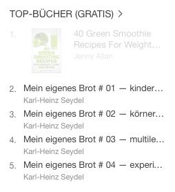 alle 4 titel in top 5 bei ibooks