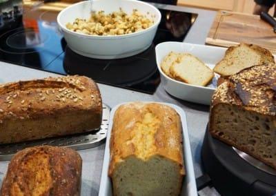 100 % brotseminar.de-Brote für die Berndes-Show in Halle 3.1 von Karl-Heinz Seydel (khs) gemacht + mitgebracht.