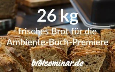 Ambiente 2016 + 26 kg feinstes Dinkel-Apfelwein-Gourmet-Brot von brotseminar.de gab es nur am Berndes-Stand in Halle 3.1