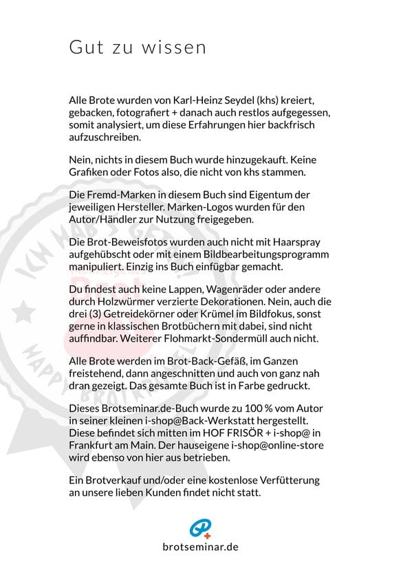 Umschlag, Satz, Layout, Illustrationen, Fotos, Texte, Ideen, Rezepturen, Brote, universelle volksbrot2013.de-Gär- + Brot-Back-Methode: Karl-Heinz Seydel, Frankfurt am Main