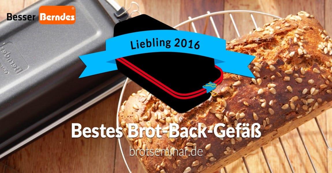 """Liebling 2016 ist das """"Brot-Kastenform-Set"""" von Berndes. Im brotseminar.de-Buch ist es vollständig integriert: ofenfest + brotoptimal."""