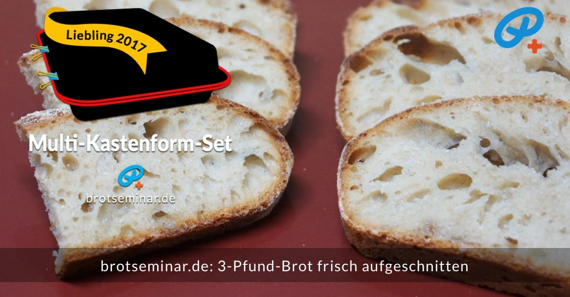 brotseminar.de: 3-Pfund-Brot frisch aufgeschnitten. Als Häppchen vielseitig verwendbar.