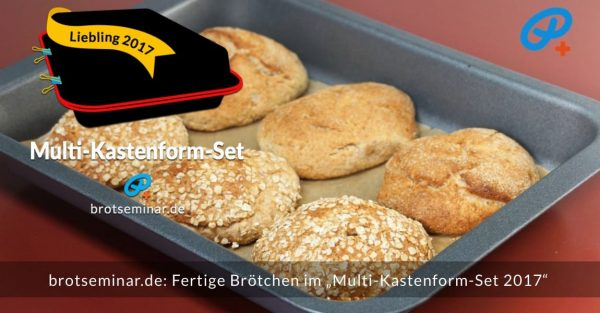 brotseminar.de: Fertig gebackene Brötchen im Multi-Kastenform-Set 2017.