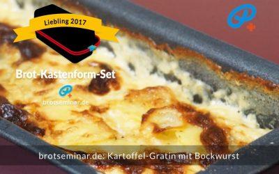 Kartoffel-Gratin im Brot-Kastenform-Set 2017 gebacken