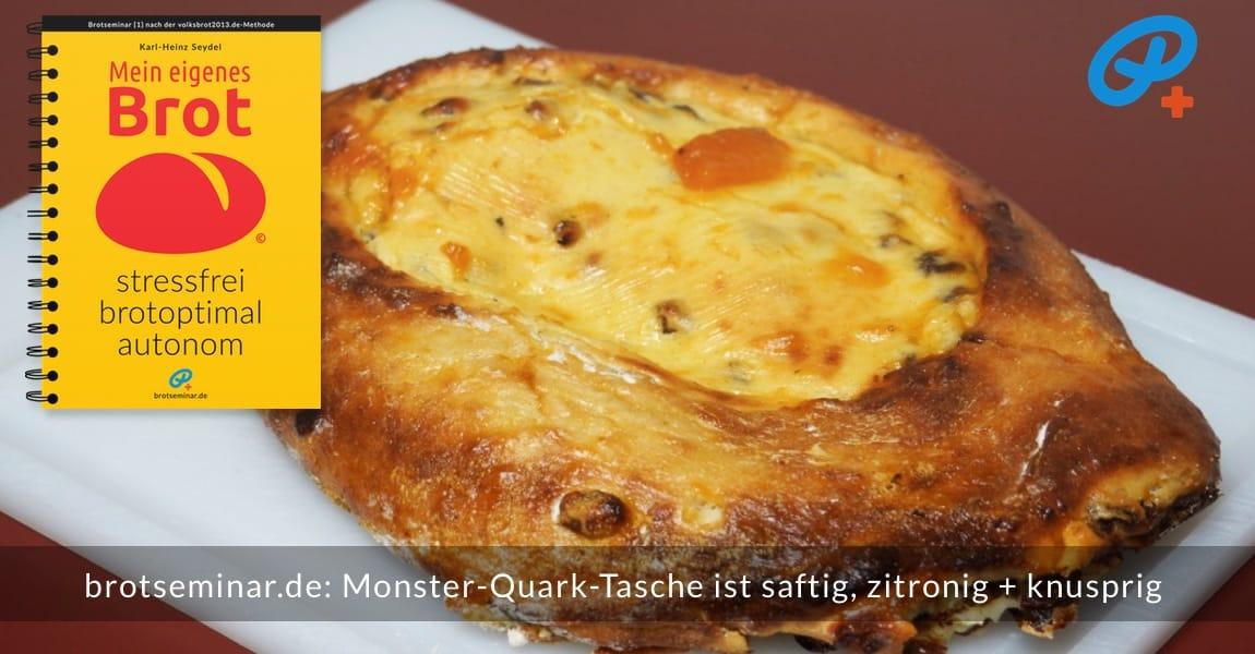 """brotseminar.de: Die Monster-Quark-Tasche mit """"Ohne-Kneten-Hefeteig"""" wurde im neuen Multi-Kastenform-Set 2017 gebacken."""