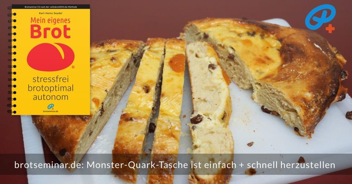brotseminar.de: Auch mit Obst belegter Variante machbar, wie zum Beispiel Apfel, Birne, Kirsche, Aprikose … oder Rhabarber.