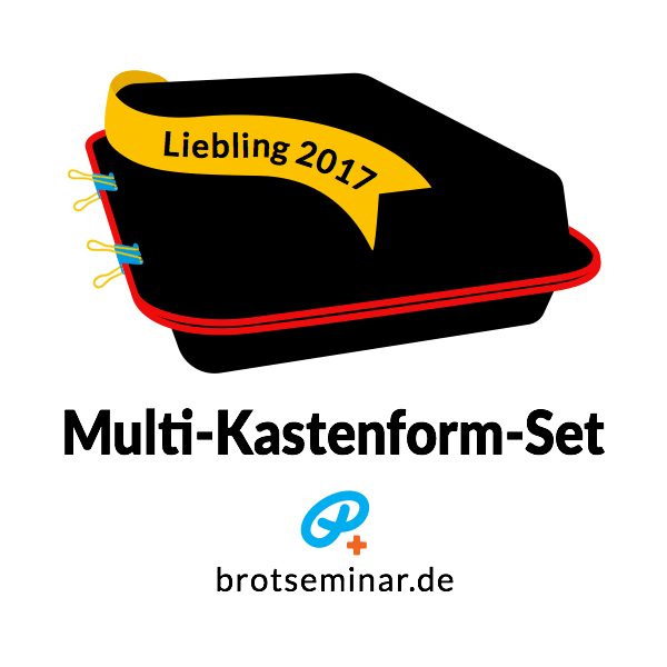 """Multi-Kastenform-Set 2017 für hausgemachte """"Ohne-Kneten-Spezialitäten"""" von brotseminar.de"""