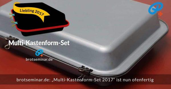 brotseminar.de: Das wunderbare Multi-Kastenform-Set 2017 ist gefüllt + backfertig + mit den drei (3) ofenfesten Klammern geschlossen.