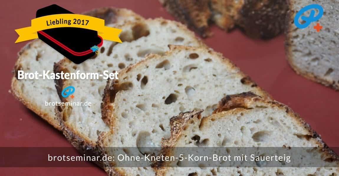 brotseminar.de: Dieses 5-Korn-Brot mit Sauerteig wurde im Brot-Kastenform-Set 2017 brotoptimal gebacken. Man sieht es ganz deutlich, dass es diesem Brot an nichts mangelt. Kruste + Krume vom Feinsten!