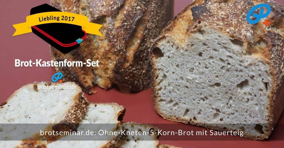brotseminar.de: Dieses 5-Korn-Brot mit Sauerteig wurde im Brot-Kastenform-Set 2017 brotoptimal gebacken. Auch als Pausenbrot eine tägliche Freude.