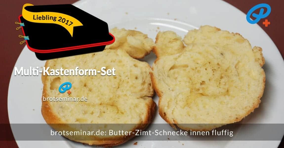 brotseminar.de: Butter-Zimt-Schnecken mit unserem universellen Ohne-Kneten-Hefeteig hergestellt. Der Teil wurde mit Milch, Butter + Vanille aus der Mühle zubereitet. Zucker kam nur wenig hinzu, dafür aber obendrauf mit dem Zimt-Zucker nicht geizen. Und Salz nicht vergessen.