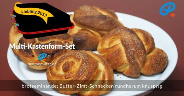 brotseminar.de: Butter-Zimt-Schnecken mit unserem universellen Ohne-Kneten-Hefeteig hergestellt. So knusprig! Kann auch ohne Belag schnell + heimlich vernascht werden.