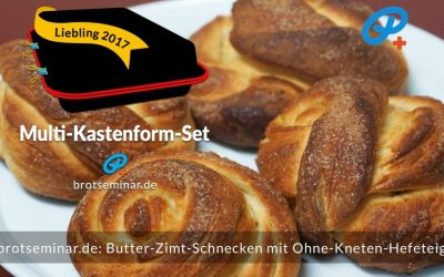 Butter-Zimt-Schnecken mit Ohne-Kneten-Hefeteig