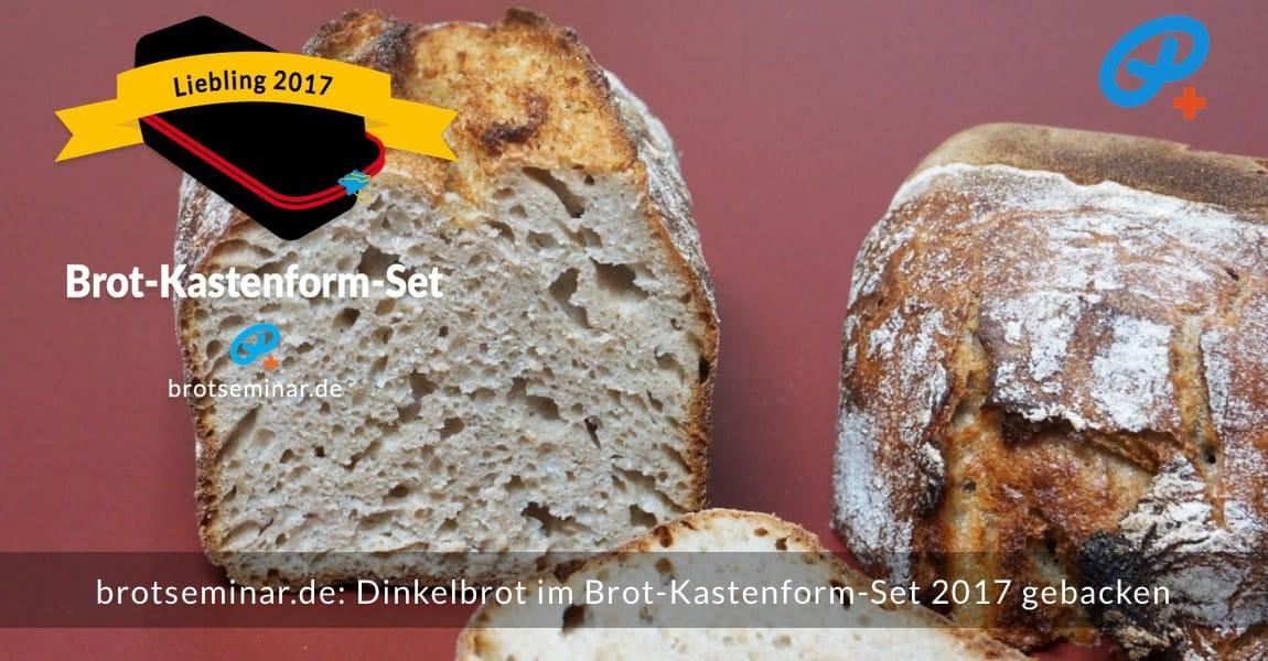 brotseminar.de: Dieses Dinkelbrot mit Sauerteig wurde im Brot-Kastenform-Set 2017 brotoptimal gebacken. Fluffige Krume + knusprige dünne Kruste + sehr angenehmer Brotgeschmack + so viel, wie du möchtest. Das kannst du auch.