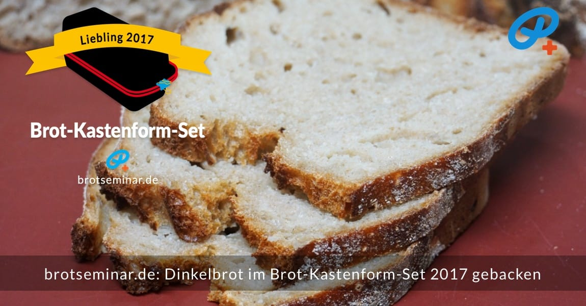 brotseminar.de: Dieses Dinkelbrot mit Sauerteig wurde im Brot-Kastenform-Set 2017 brotoptimal gebacken. Zum Reinbeißen gemacht.