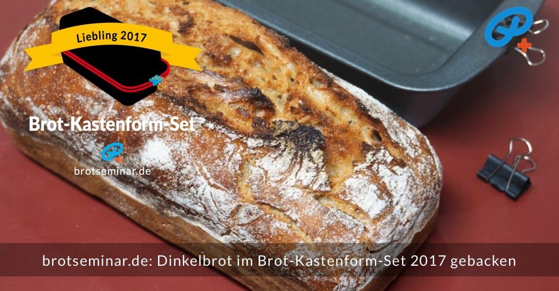 brotseminar.de: Dieses Dinkelbrot mit Sauerteig wurde im Brot-Kastenform-Set 2017 brotoptimal gebacken. Der Ur-Geschmack des frischen Brotmehls von der Adler Mühle Bahlingen, wurde zusätzlich durch die Langzeit-Gär-Methode # 03 (im Kühlschrank) unterstützt. Immer ohne Kneten nach der volksbrot2013.de-Methode von brotseminar.de + mit Freude am einfachen selbst Herstellen von hochwertigem Brot.