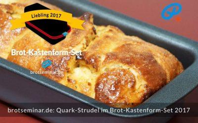Quark-Strudel mit Ohne-Kneten-Hefeteig im Brot-Kastenform-Set 2017 gebacken