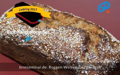 Roggen-Weizen-Gerste-Sauerteigbrot mit Kartoffel + Haferkruste
