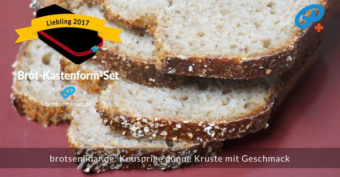 brotseminar.de: Roggen-Weizen-Gerste-Sauerteigbrot mit Haferkruste + einer fluffigen Krume. Mutiges Foto, so ganz nahe dran, denn die Fressfeinde lauern jederzeit + überall.