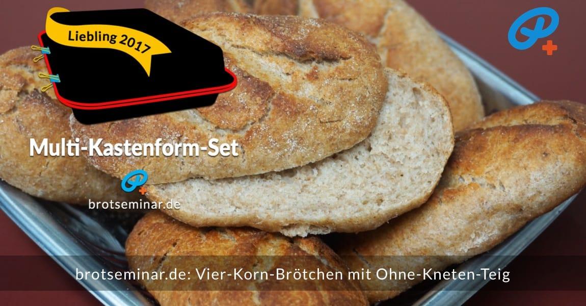 brotseminar.de: Diese Vier-Korn-Brötchen wurden mit brotseminar.de-Ohne-Kneten-Hefeteig hergestellt. Kaum zu glauben, dass ohne Kneten + ohne Ruhezeiten ein solch prachtvolles Backwerk hergestellt werden kann.
