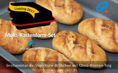 Vier-Korn-Brötchen mit Ohne-Kneten-Teig