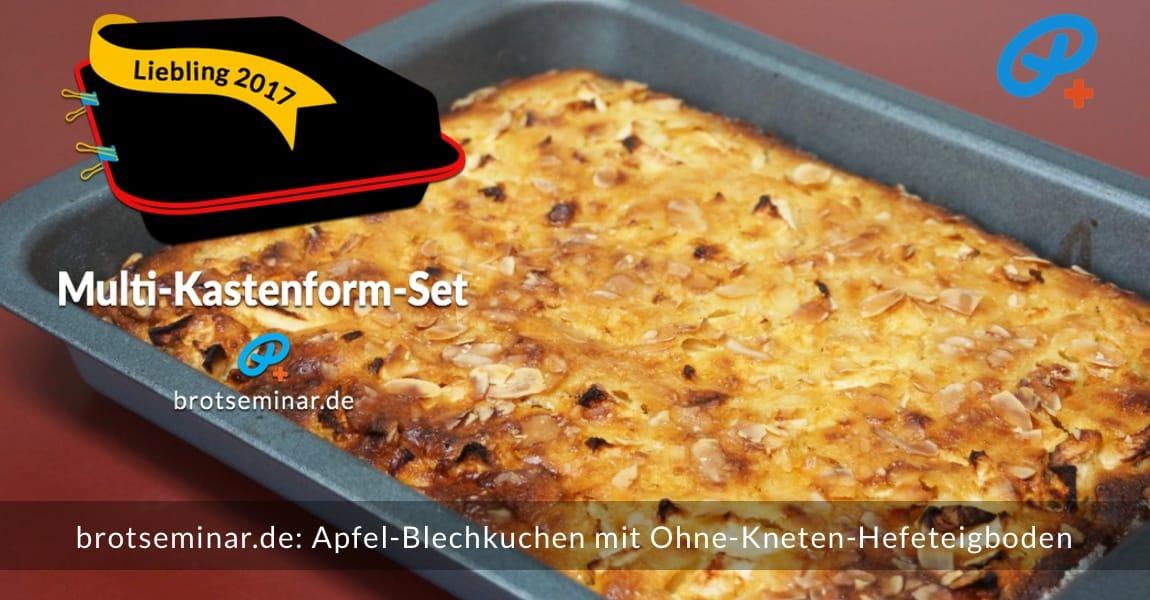 brotseminar.de: Dieser Apfel-Blechkuchen wurde im Multi-Kastenform-Set 2017 kuchenoptimal gebacken. Immer wieder stressfrei + kuchenoptimal mit unserem Ohne-Kneten-Hefetig nach der volksbrot2013.de-Methode.