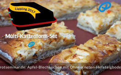 Apfel-Blechkuchen mit Ohne-Kneten-Hefeteigboden