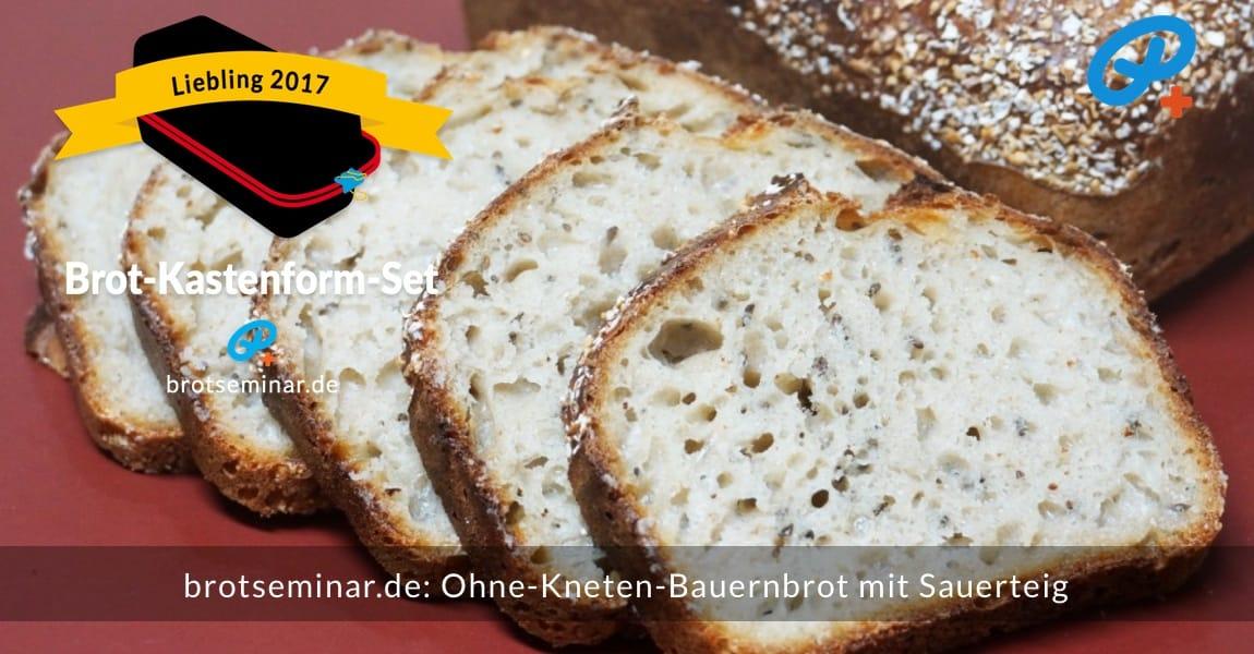 brotseminar.de: Dieses Bauernbrot mit Sauerteig wurde im Brot-Kastenform-Set 2017 brotoptimal gebacken. Dann sehr frisch angeschnitten, weil ich es einfach nicht länger aushalten konnte.