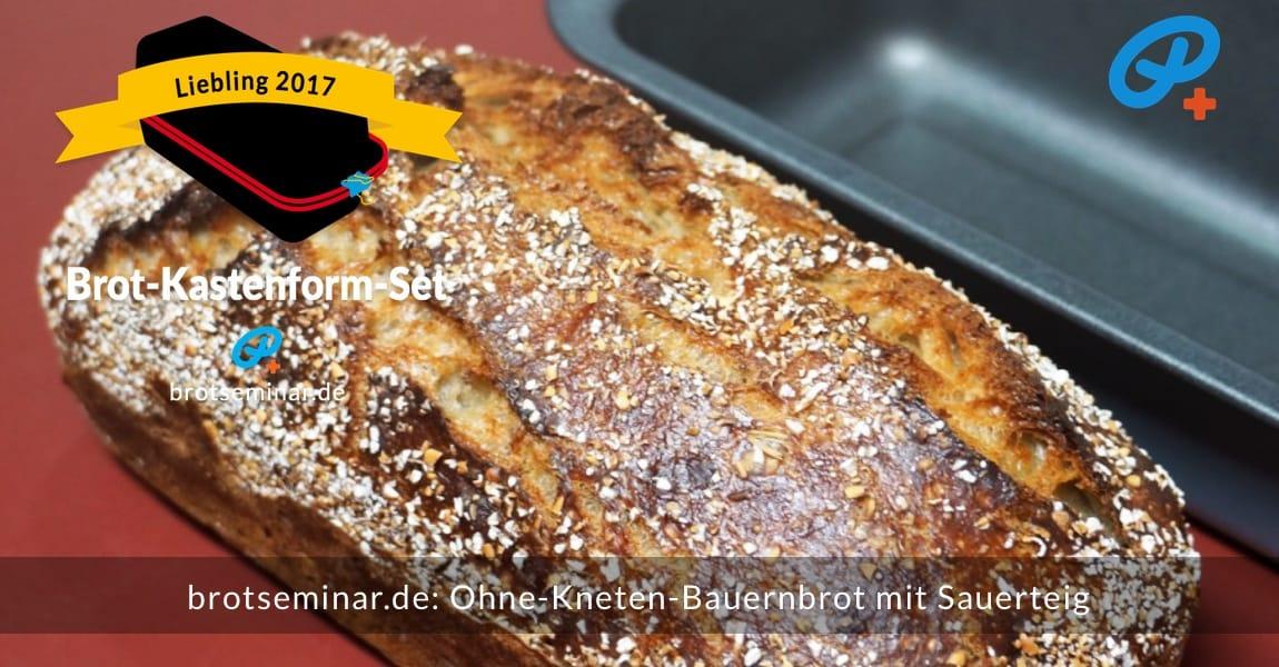 brotseminar.de: Dieses Bauernbrot mit Sauerteig wurde im Brot-Kastenform-Set 2017 brotoptimal gebacken. Der Ur-Geschmack des frischen Brotmehls von der Adler Mühle Bahlingen, wurde zusätzlich durch die Langzeit-Gär-Methode # 03 (im Kühlschrank) unterstützt. Immer ohne Kneten nach der volksbrot2013.de-Methode von brotseminar.de + mit Freude am einfachen selbst Herstellen von hochwertigem Brot.
