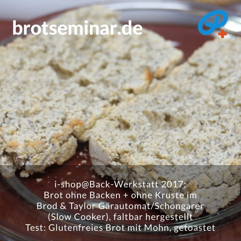 brotseminar.de: Brot ohne Kneten, ohne Backen, ohne Kruste. Getoastete Scheiben.