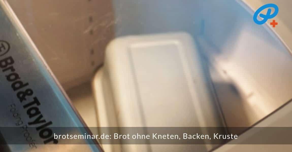 brotseminar.de: Brot ohne Kneten, ohne Backen, ohne Kruste. Back-fertiger Brot-Teig im Brot-Kastenform-Set 2017 + dieser befindet sich im Brot & Taylor Gärautomat + Schongarer bereit fürs den Back-Test.