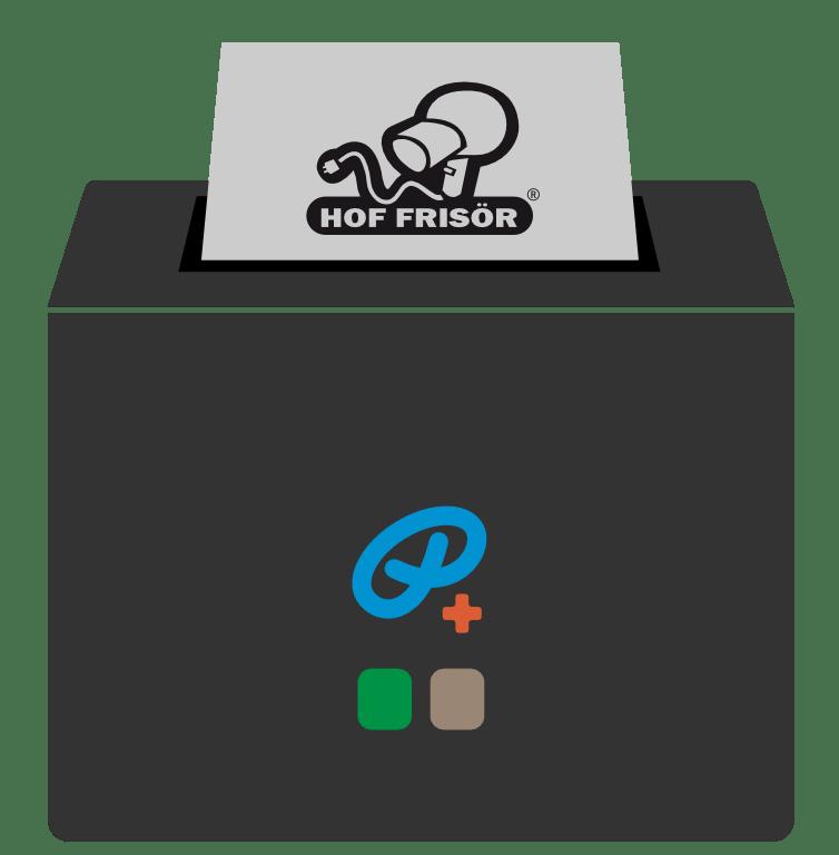 HOF FRISÖR-Kassenzettel mit Logo wird blitzschnell ausgedruckt.