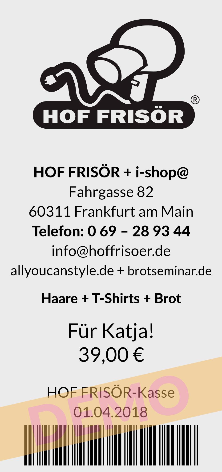 HOF FRISÖR-Kasse 2018: Gutscheine verkaufen leicht gemacht mit der flour.io-Kassenlösung aus der Cloud. Alle Gutscheine werden GoBD-konform verkauft, eingelöst + verbucht.