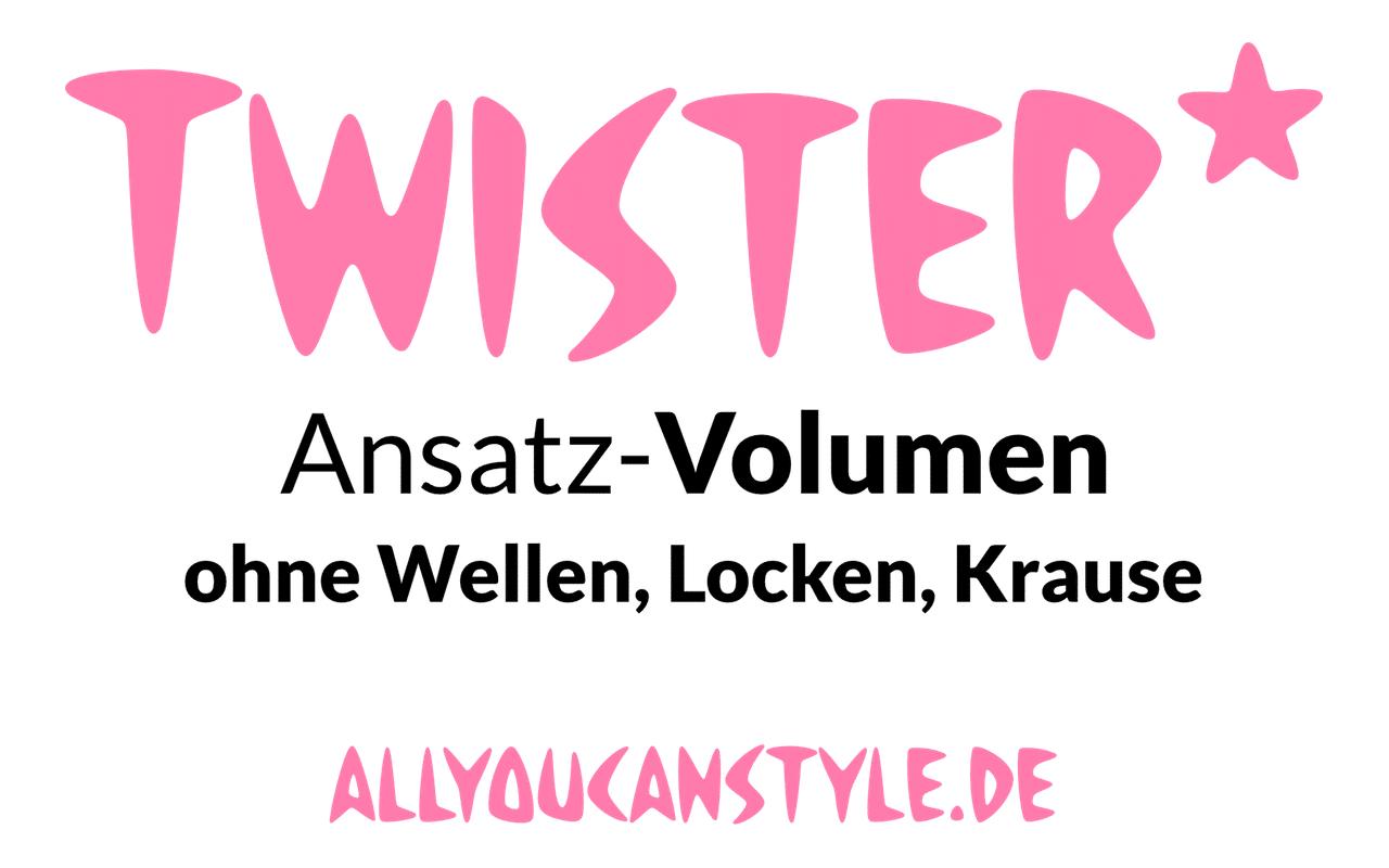 Unsere hauseigene Twister-Ansatz-VOLUMEN-Methode macht einen schönen und beeindruckenden Oberkopf. Bringt zusätzlich Bewegung und Spannkraft ins sonst schnell zusammenfallende feine Haar.