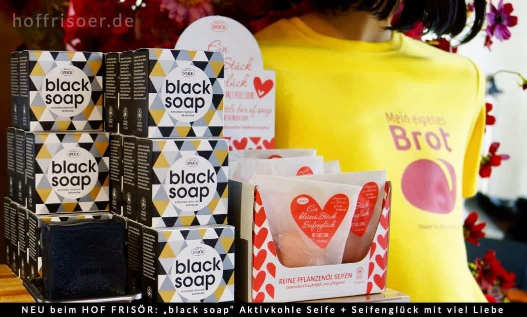 """NEU beim HOF FRISÖR in Frankfurt: """"black soap"""" Schwarze Aktivkohle Seife + ein kleines Seifenglück mit viel Liebe …"""