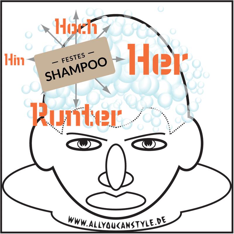 © HOF FRISÖR im April 2019: Festes SHAMPOO. Hier erzähle ich von meinen Erfahrungen mit allem, was so auf deinem Kopf schäumen könnte, außer Geschirrspülmittel. — khs
