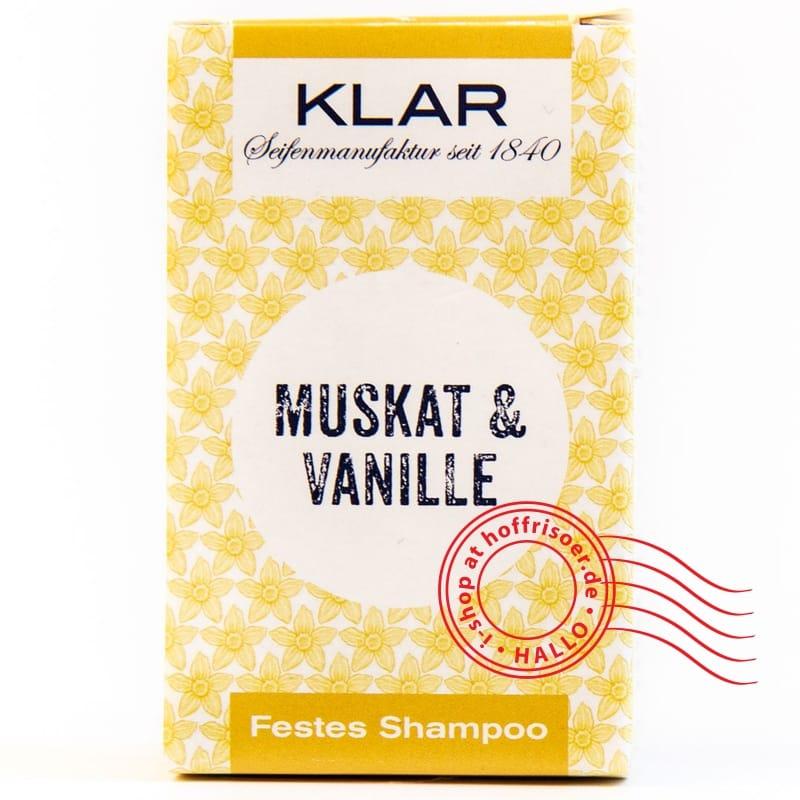 Klar's festes Shampoo Vanille/Muskat 100 g