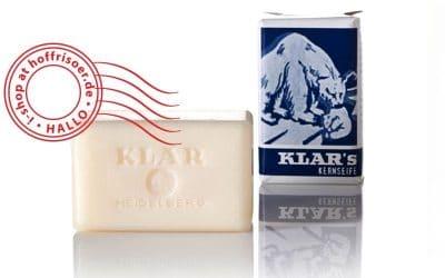 Die Kernseife von KLAR ist palmölfrei, parfümfrei, vegan + besonders cremig