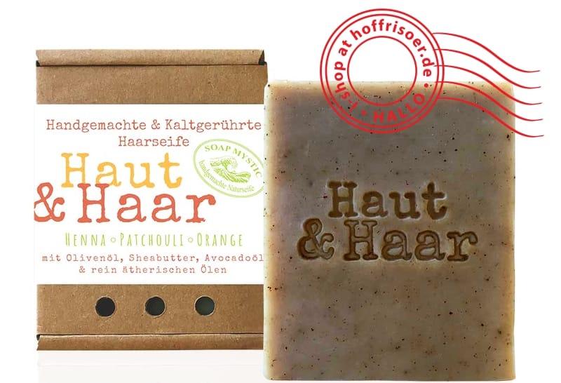 HOF FRISÖR: SOAP MYSTIC Haarseife Haut & Haar Henna mit Patchouli und Orange