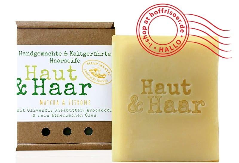 HOF FRISÖR: SOAP MYSTIC Haarseife Haut & Haar Matcha mit Zitrone und Litsea Cubeba