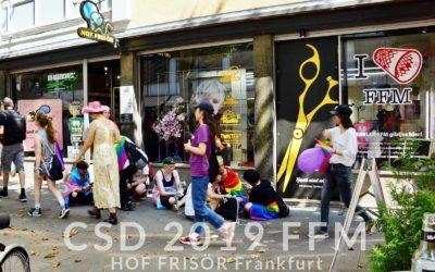 CSD 2019 Frankfurt beim HOF FRISÖR