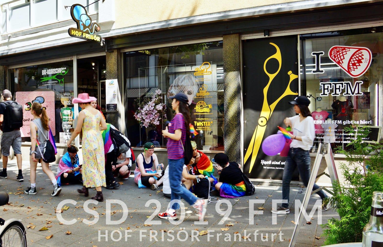 © HOF FRISÖR Juli 2019: CSD Frankfurt 2019 — wir sind mittendrin + dabei …