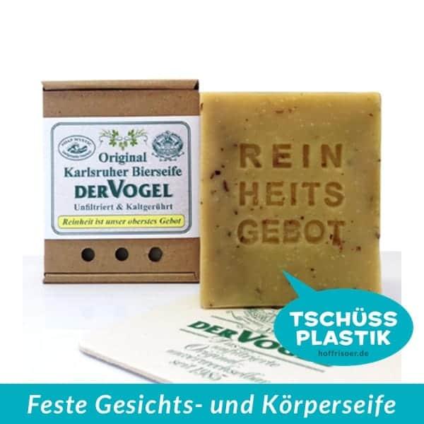 SOAP MYSTIC Naturseifen Karlsruhe: Feste Gesichts- und Körperseife, kaltgerührte Olivenölseife mit Hopfenblüten und unfiltriertem Vogelbier aus Karlsruhe und ohne Plastik