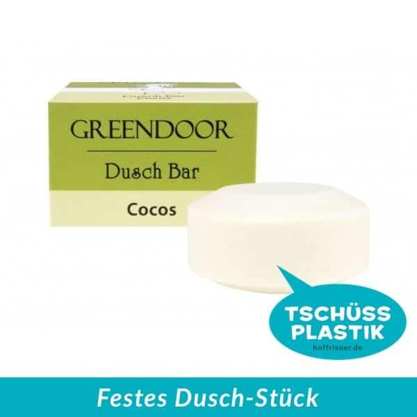 GREENDOOR Naturkosmetik aus Hurlach: Festes Duschgel, Festes Dusch-Stück, Solid Bar mit Bio Cocos Extrakt, ohne Sulfate