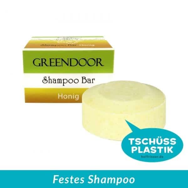 GREENDOOR Naturkosmetik aus Hurlach: Festes Shampoo, Solid Shampoo, ohne Sulfate, mit echtem Bienenhonig, ohne Plastik