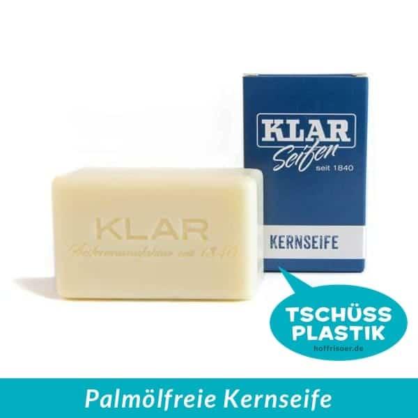 KLAR Seifenmanufaktur: Kernseife aus rein pflanzlichen Ölen ist frei von künstlichen Duft- und Farbstoffen, vegan und plastikfrei