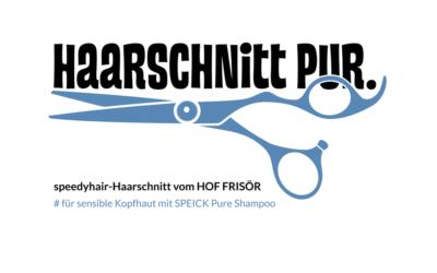 """""""Haarschnitt PUR."""" mit dem PURE Shampoo von SPEICK kreiert, hergestellt, angefertigt"""