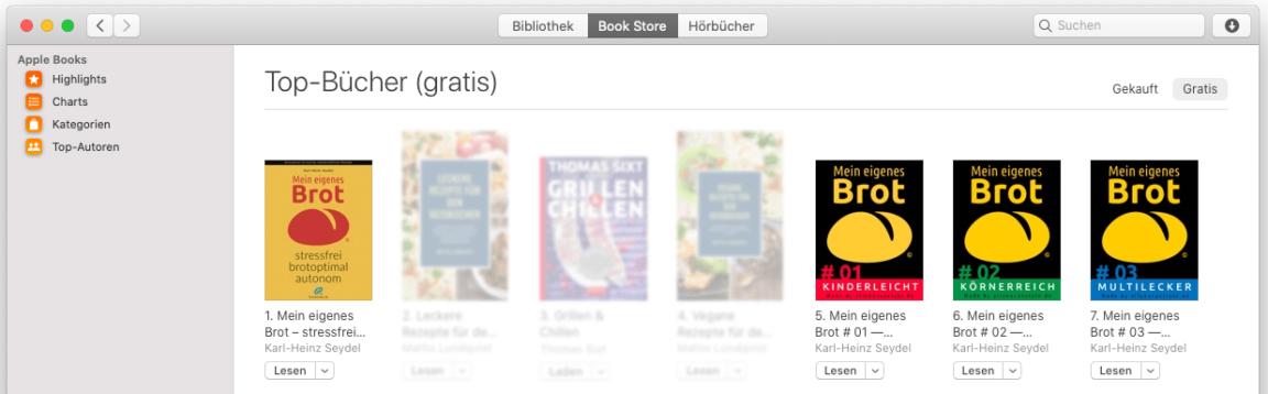 brotseminar.de: Alle Leseproben auch bei iBooks (iTunes) von Apple in 52 Ländern + direkt vom Buch-Autor Karl-Heinz Seydel
