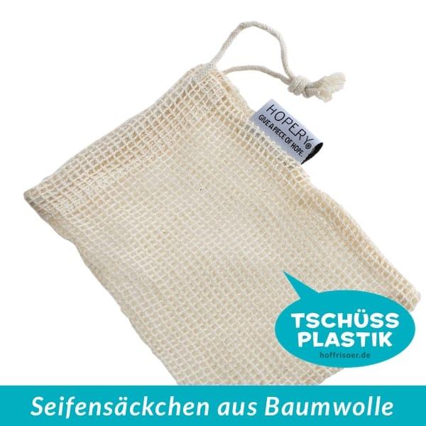 HOF FRISÖR Frankfurt am Main: Dieses praktische Seifen-Säckchen ist aus Baumwolle und auch von HOPERY